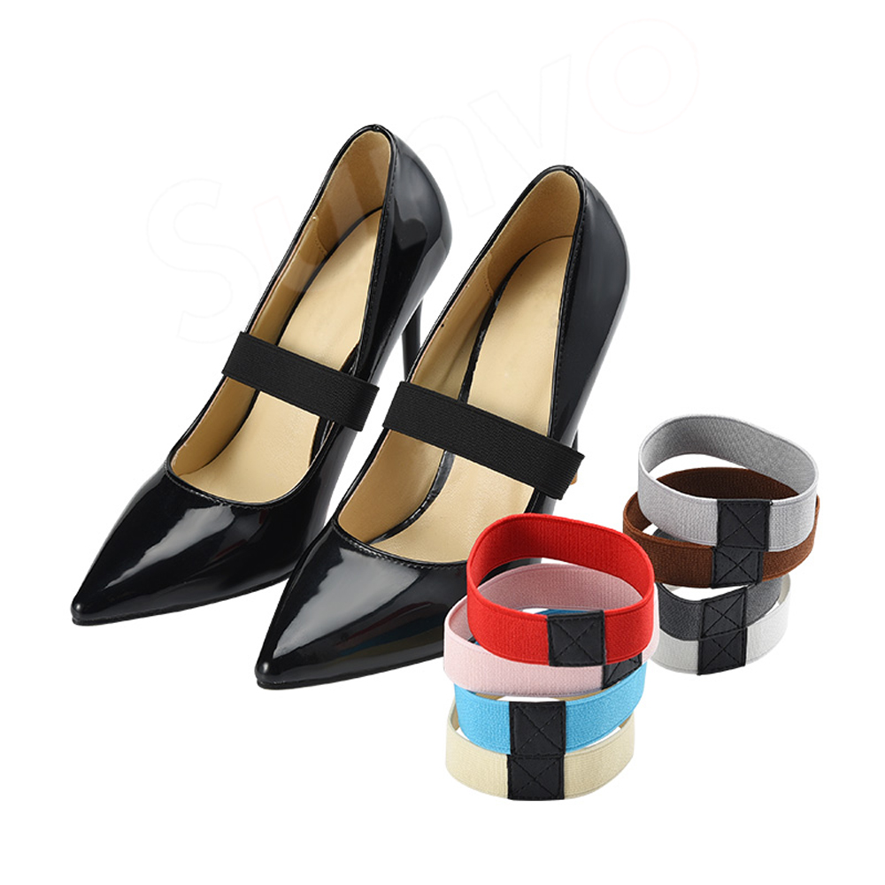 Colored Leather Shoe Straps Laces Band for Holding Loose High Heeled Shoes