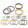 50-200 шт./лот 6-20 мм двухпетельные соединительные кольца серебристого и золотого цвета, соединительные кольца для самостоятельного изготовле...
