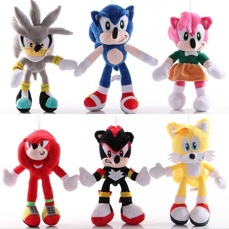 Sonic Speelgoed 18-30 Cm Sonic Shadow Amy Rose Knuckles Tails Knuffels Soft Gevulde Peluche Poppen Gift Voor kids'