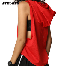 Women Hooded Yoga Shirts Gym Yoga Tops Running T Shirts Sports Shirt for Fitness Quick Dry Tank Top Fitness Female Sportswear