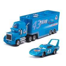 Cars 2 3 Disney Pixar No. 43 Car king Truck Lightning McQueen Jackson Storm Truck 1:55 Diecast Metal Alloy Toy For Children Gift