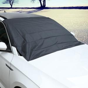 Image 1 - แม่เหล็กรถหิมะบล็อกSilverผ้าMagnetic Snow Ice Shieldสำหรับกระจกฤดูหนาวรถหน้าต่างด้านหน้า