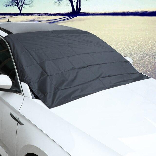 แม่เหล็กรถหิมะบล็อกSilverผ้าMagnetic Snow Ice Shieldสำหรับกระจกฤดูหนาวรถหน้าต่างด้านหน้า