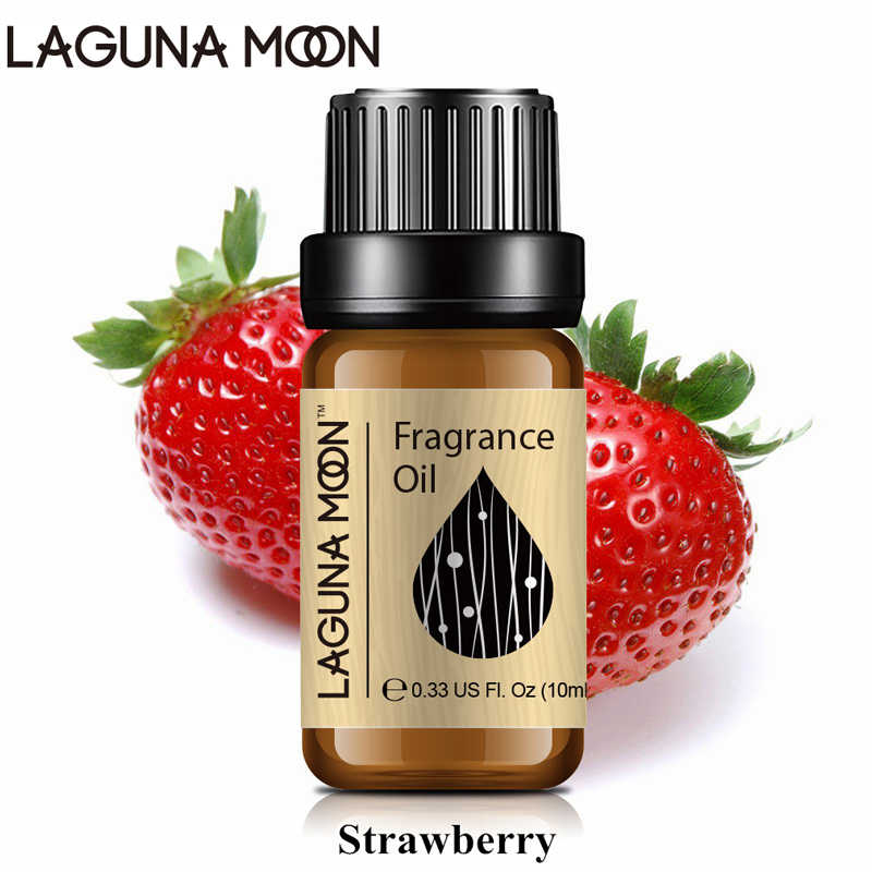 Lagunamoon fraise 10ml huile parfumée vanille mandarine parme Violet mangue Freesia pomme lin frais diffuseurs huile savon bougie