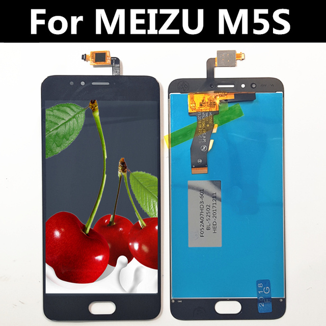 """5.2"""" For MEIZU M5S M612H M612M LCD Display+Touch Screen Digitizer Glass Lens Assembly Replacement For Meizu Meilan 5S LCD"""