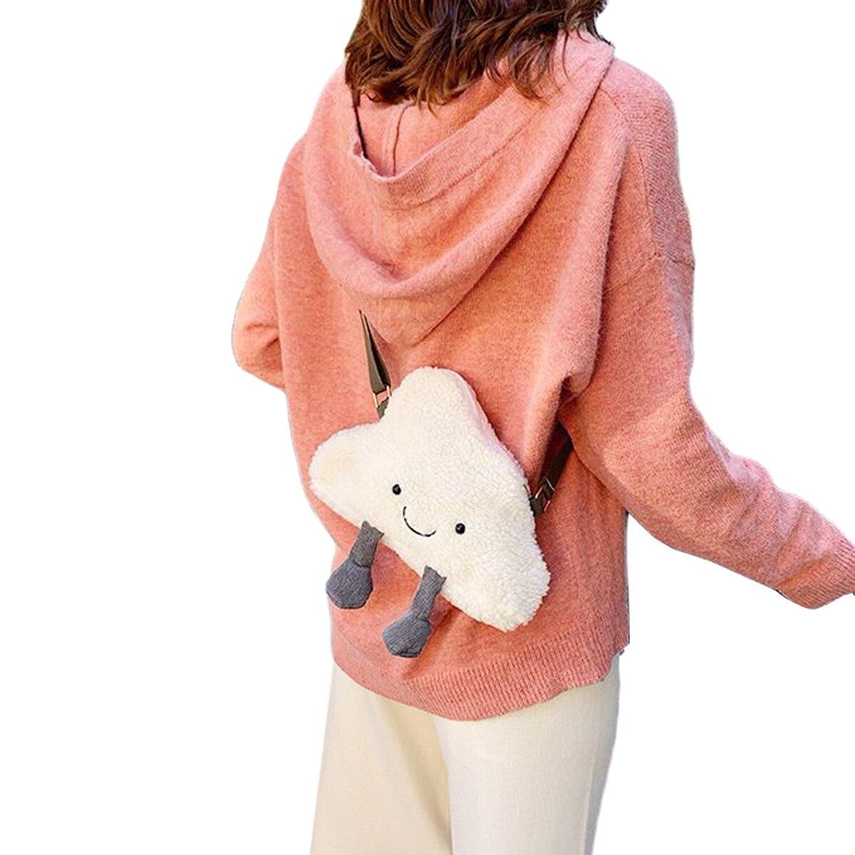 Little Baby Girls Small Crossbody Bag Soft Lovely Cloud Shape Plush Shoulder Bag Purses Birthday Gift for Women Girls