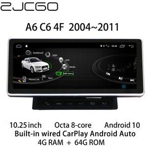 Автомобильный мультимедийный плеер стерео gps DVD Радио Навигация Android экран монитор MMI 2G 3g система для Audi A6 S6 RS6 C6 4F 2004 ~ 2011