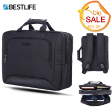 BESTLIFE Men's Briefcase Black Transform Messenger Portable Bag Business Briefcase Male Large Capacity Office Laptop Bag for Men