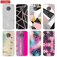 Mármol teléfono casos para Motorola Moto E6 C Z2 Z3 una P30 G4 G5 G5S G6 G7 E3 E4 E5 Plus Play X4 suave de silicona TPU