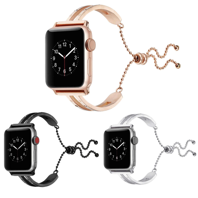 アップルブレスレットウォッチため適用可能な AppleWatch ステンレススチールメタルダイヤモンドボックスセットカルティエブレスレット時計バンド