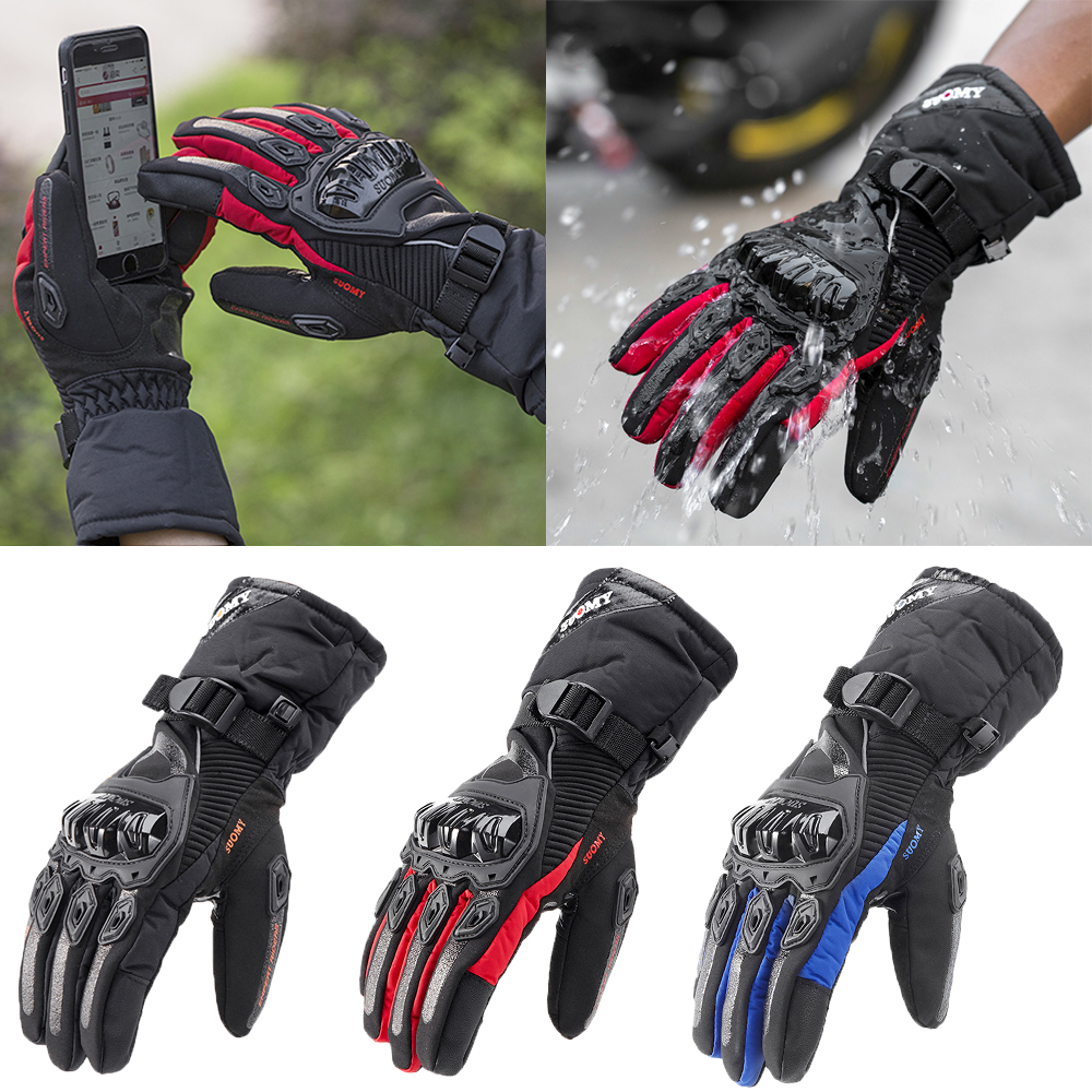 100% Waterproof Motorcycle Gloves Windproof Touch Screen Protective Guantes Moto Motocross Gloves Winter Warm Motorbike Gloves