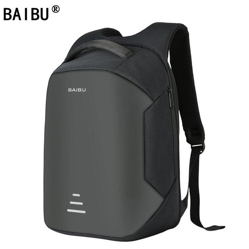 BAIBU New Backpacks Male USB Charge Laptop Anti Theft Backpack Fashion Design Backpack Casual Mochila Casual Travel Bag For Men