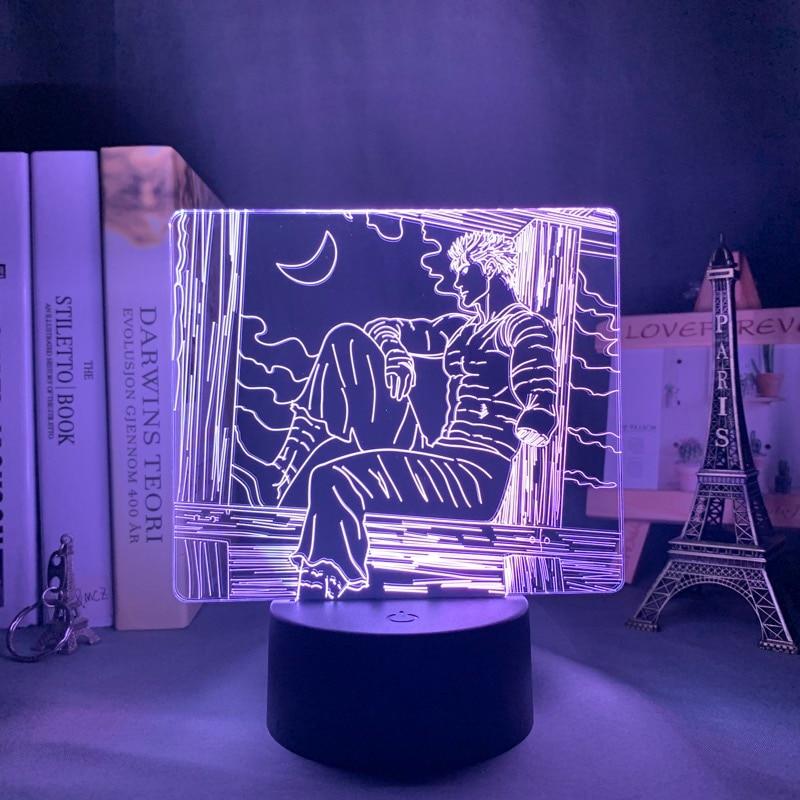 H58eb8a0fa28448c3b6a954e5c15b4dedN Luminária Anime led night light berserk tripas para quarto deco presente colorido nightlight manga 3d lâmpada berserk tripas