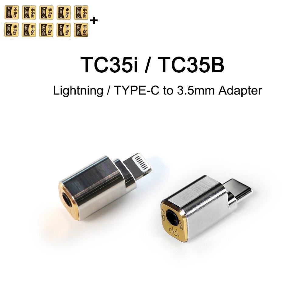 DD ddHiFi TC35i / TC35B Lightning/Тип C до 3,5 мм Кабель-адаптер для iPhone 11 iPad iOS, мобильный телефон Huawei Xiaomi