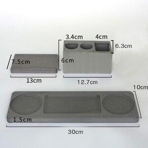 Image 5 - Cement bathroom mold toothbrush holder soap tray cotton swab box Hotel multifunctional concrete gypsum diatom mud silicone mo