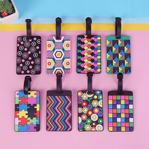 New Suitcase Color Pattern Luggage Tags design ID Tag Luggage Label Address Holder Identifier Label travel Accessories(China)