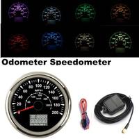 85mm 오토바이 자동차 0-200MPH 300 km/h LCD GPS 속도계 주행 거리계