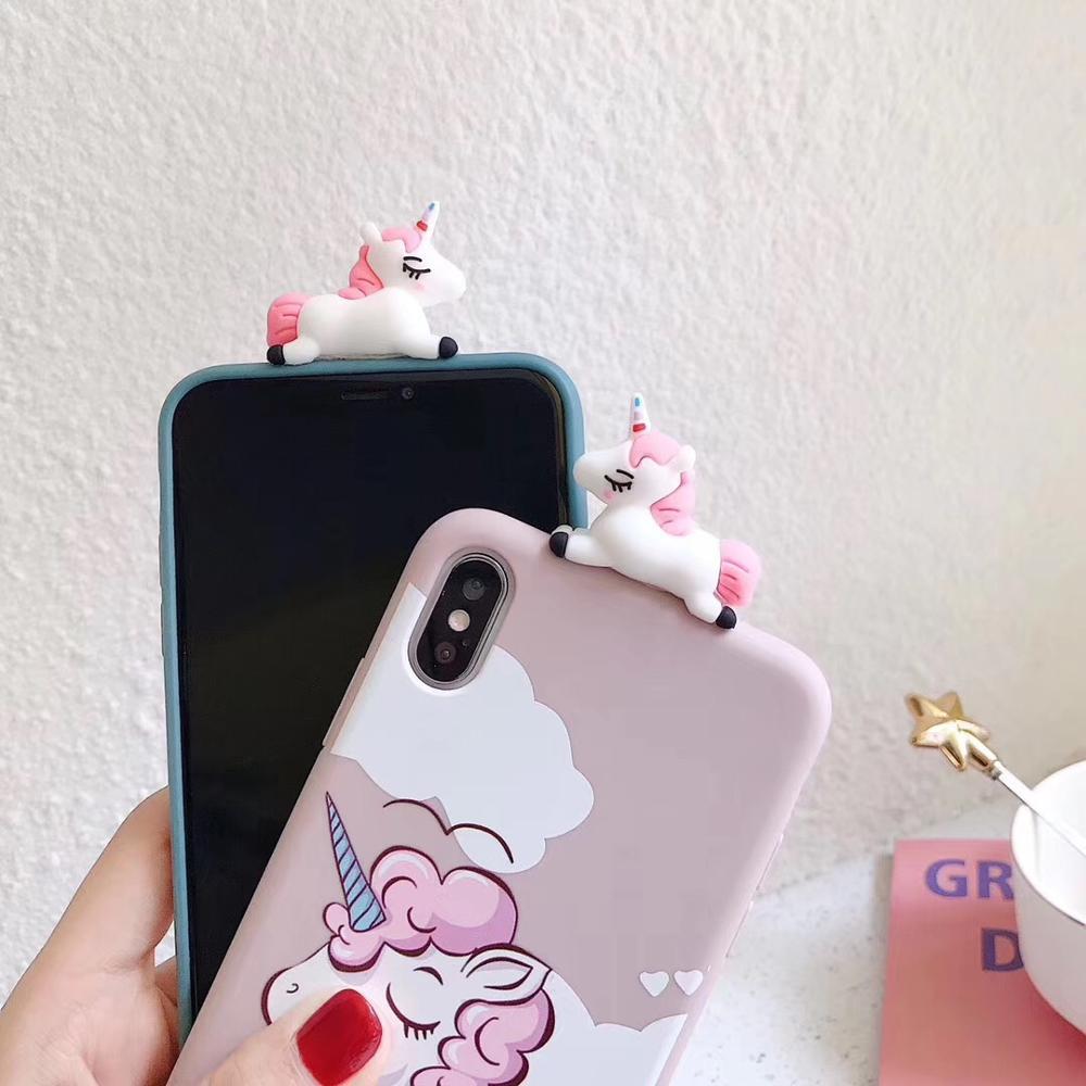 3D Pink Sleeping Unicorn Phone Case