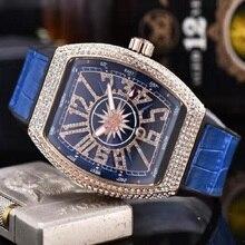 Quartz Watches Skull Diamond Womens Luxury AAAA Dial-Inlaid-Drill Business-Orologio Sport