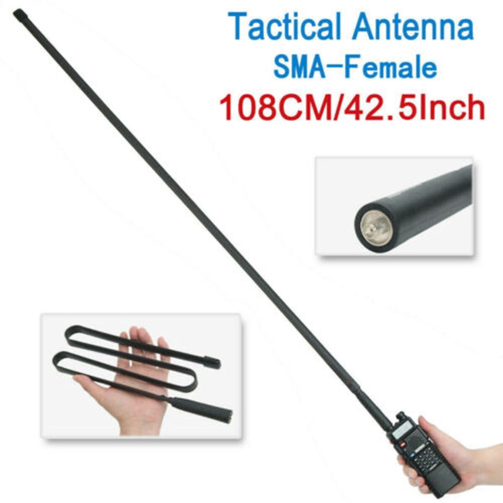 Walkie Talkie Foldable Tactical Antenna SMA-F UHF VHF Dual Band For Baofeng UV-5R UV-82 Radio Long Range Extend Gain Antenna