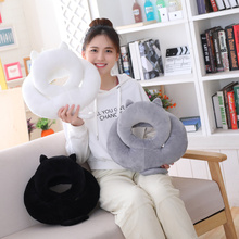 35cm Kawaii Shadow Cat Plush Nap Pillow Toys Kids Gift Doll Lovely Animal 3 Colors Home Decoration