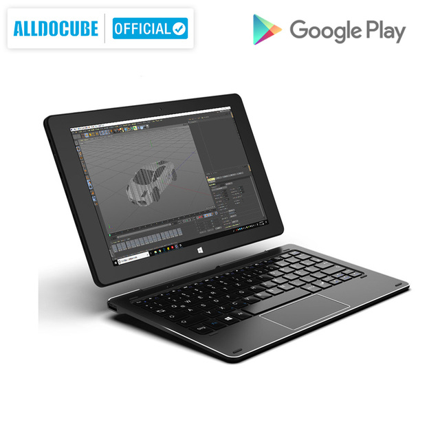 ALLDOCUBE iWork10 Pro Windows Tablet 10.1 inç 4GB RAM 64GB ROM Atom Windows 10 Android 5.1 dört çekirdekli HDMI çift Sys