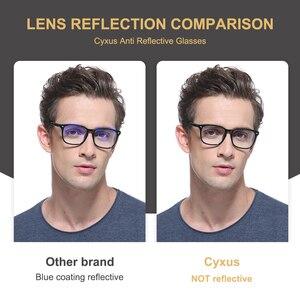 Image 3 - Cyxus مكافحة الأزرق ضوء نظارات الكمبيوتر ل مكافحة العين العين غطاء شفاف للهاتف عدسة TR90 إطار ترقية للرجال النساء نظارات 8182