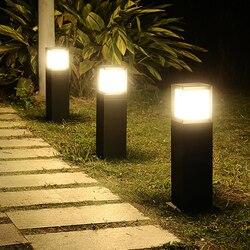 Thrisdar 60CM E27 placu na zewnątrz ogród ścieżka lampa trawnikowa willa dziedziniec stojak lampa na filarze nowoczesny Park krajobraz lampa słupkowa|Lampy LED na trawnik|   -