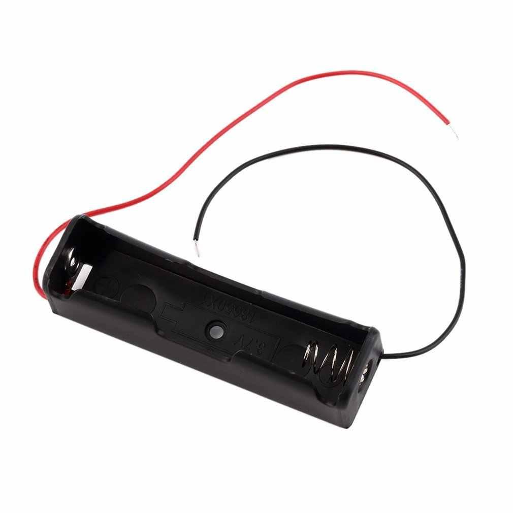 Gorąca sprzedaż przenośne plastikowe opakowanie na baterie uchwyt schowki z drut ołowiany na 18650 baterii 3.7V czarny pojemnik na pudełko baterii