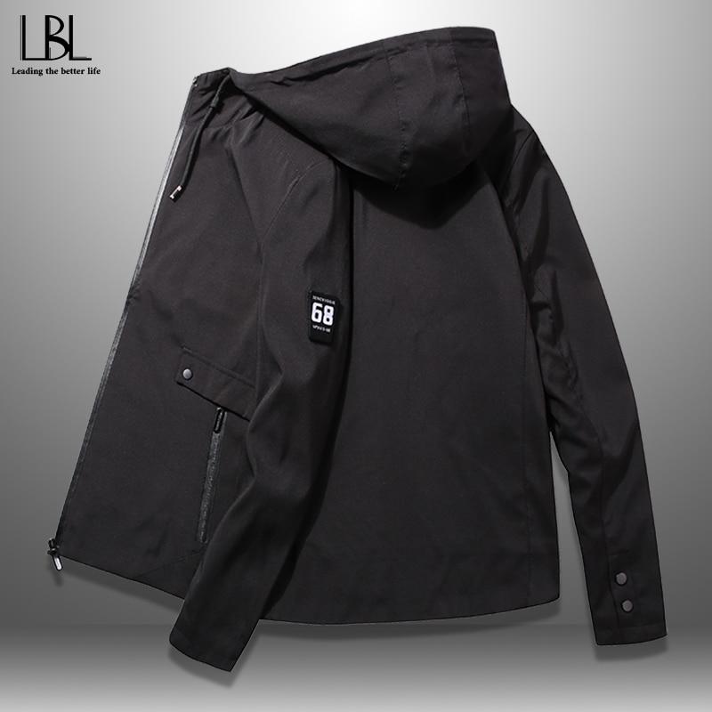 2020 Spring Hooded Jacket Men Outwear Zipper Men's Bomber Jackets Casual Coat Man Sportswear Middle-aged Top Male Slim Fit 4XL