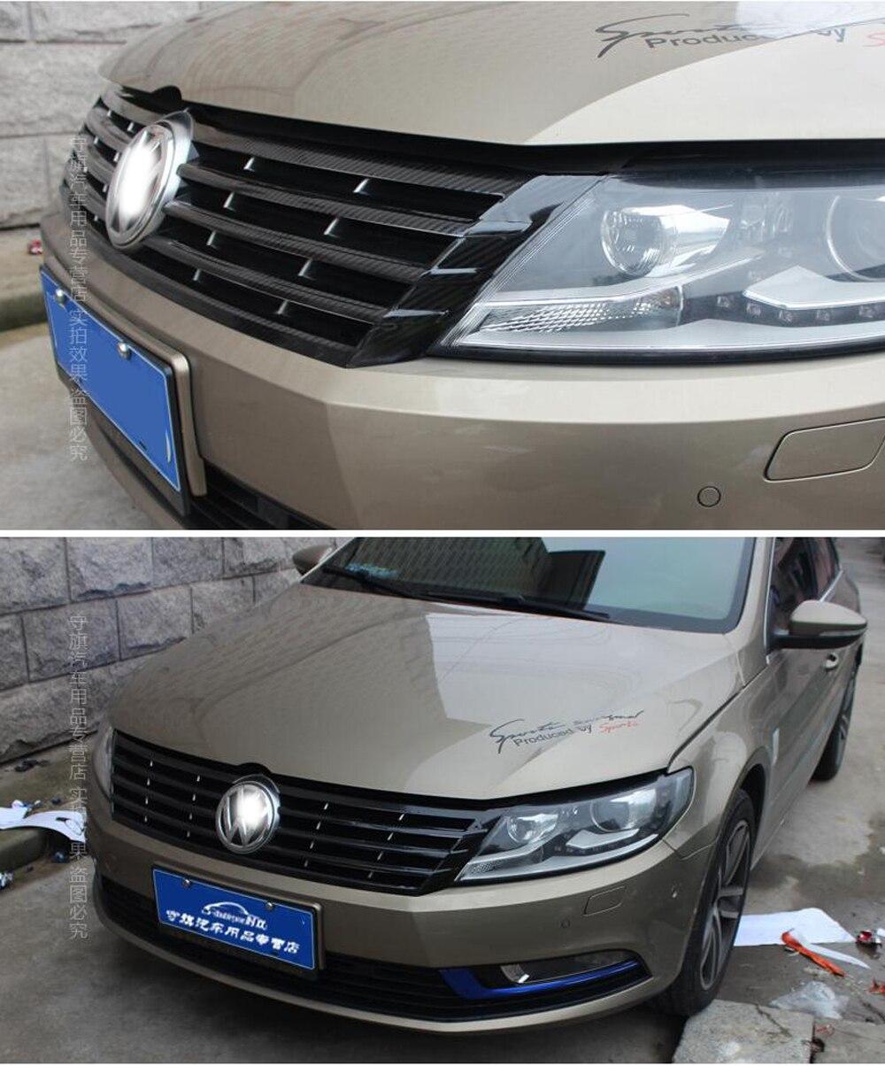 For Volkswagen VW CC 2012-2018 Intake Grille Control Panel Door Handle Carbon Fiber Stickers Decals Car Styling Accessorie