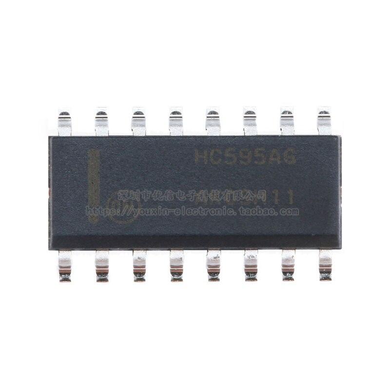 10PCS SMD MC74HC595ADR2G SOIC-16  Logic chip register