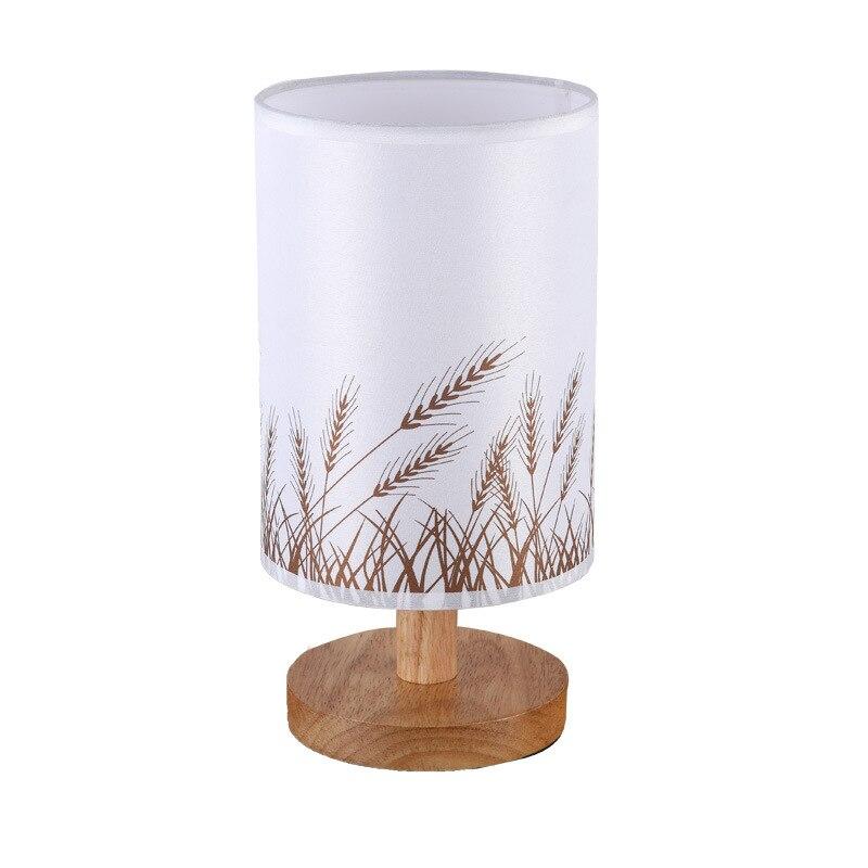 Lámpara de mesa LED de madera nórdica, lámpara de mesa de noche para dormitorio, lámpara de escritorio para lectura, sala de estar de aprendizaje para lámpara de escritorio, luminaria de decoración interior