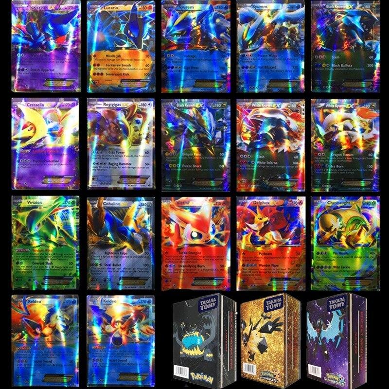 300 pièces GX 20 100 pièces MEGA brillant français cartes jeu bataille anglais Carte à collectionner pokemon Carte jeu enfants Pokemons jouet