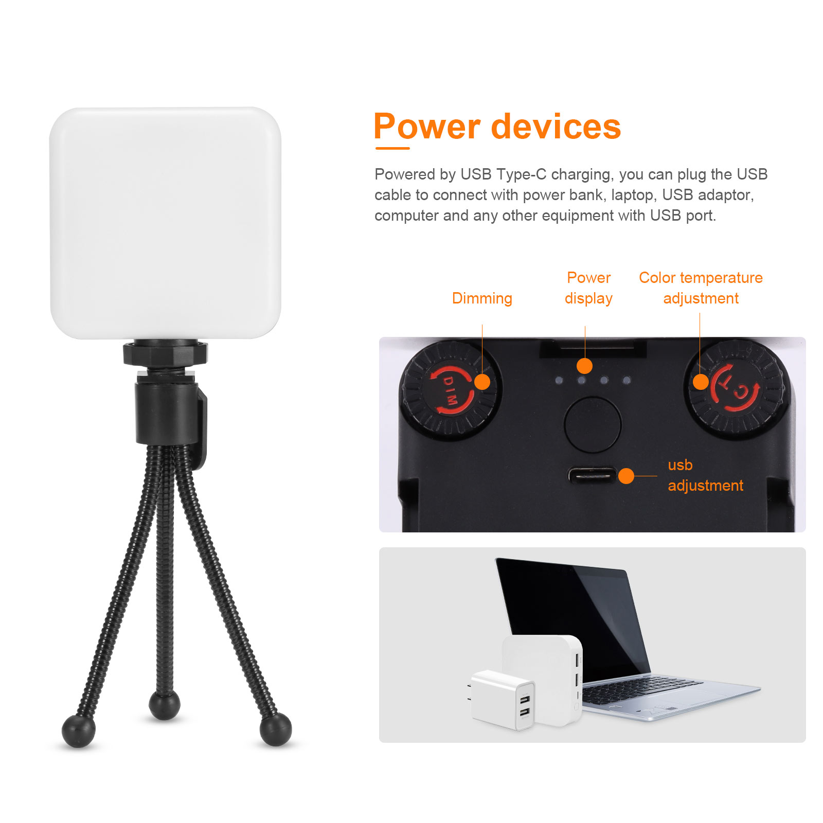 AL81 Video Conference Light 81 LED Mini Portable Fill-In Light With Sturdy Clip Tripod Stand For Video Meeting Makeup Webcam