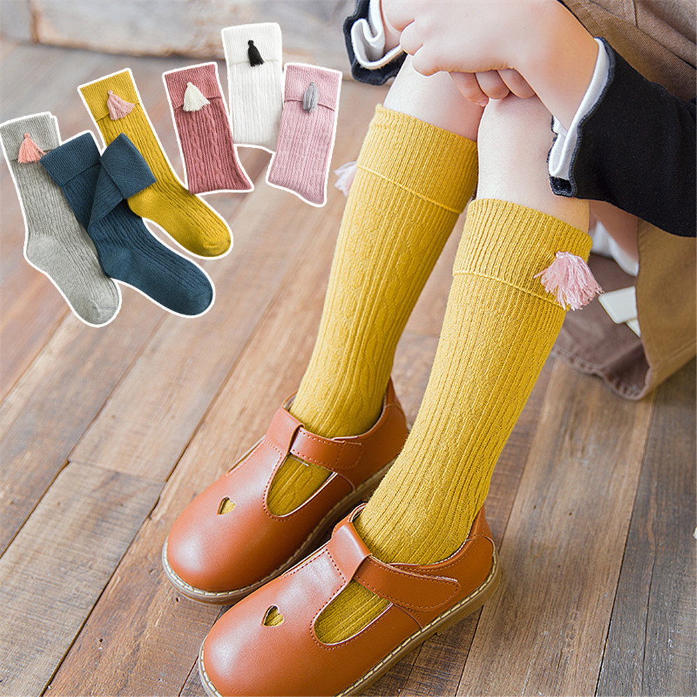 Korean Autumn And Winter Cute Children's Stockings Knee Sleeve Creative Decoration Baby Socks Cotton Girls Baby Pile Socks