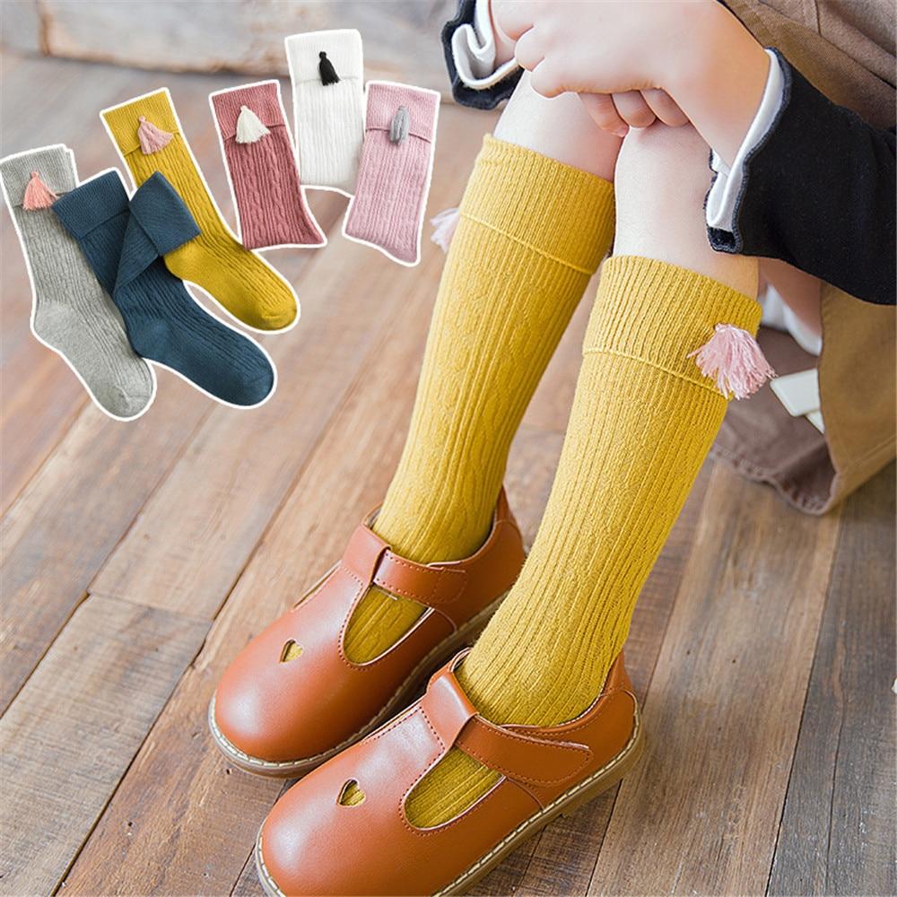 Korean Autumn And Winter Cute Children's Stockings Knee Sleeve Creative Decoration Baby Socks Cotton Girls Baby Pile Socks