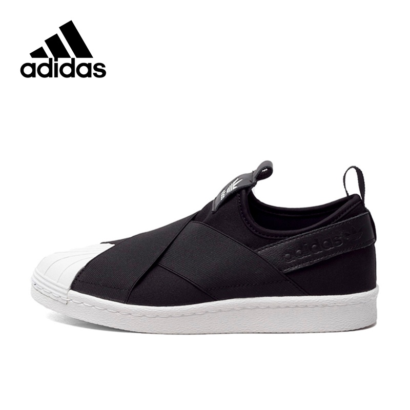 <font><b>Original</b></font> Authentic <font><b>Adidas</b></font> Superstar Slip Clover Men and <font><b>Women</b></font> Skateboarding Shoes Black White Breathable New Mens Sneakers Flat image
