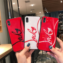 Luxury Fashion Red Glass phone case for iPhone