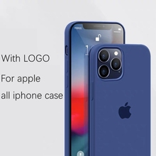 Original official With LOGO Case For iphone 7 8 6S 6 Plus X XS MAX XR phone Case for Apple iPhone 11 12 Pro Max Silicone Cover