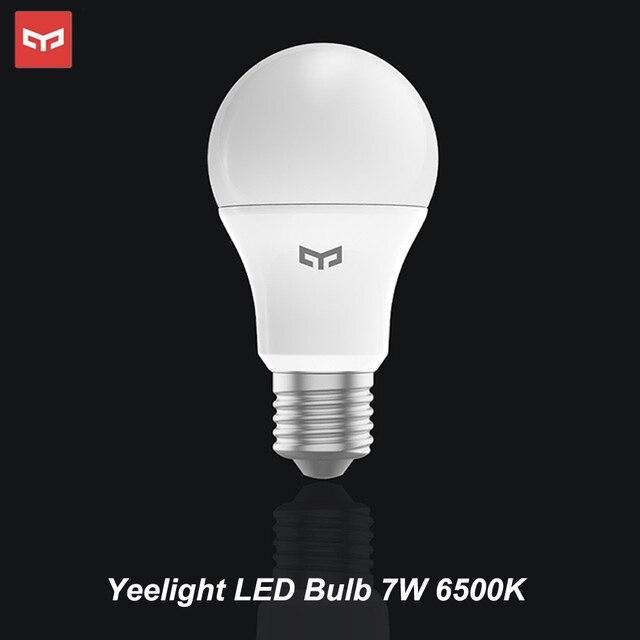 Yeelight หลอดไฟ LED 25000 ชั่วโมง 5W 7W 9W 6500K E27 หลอดไฟ 220V สำหรับเพดานโคมไฟ/โคมไฟตั้งโต๊ะ