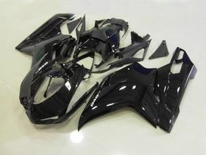 Free customize fairings for Ducati 848 1098 07 08 09 10 11 glossy black motorcycle fairing kit 848 1098 2007-2011 YY11