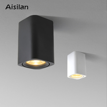 Aisilan LED سطح شنت مربع الشمال السقف النازل لغرفة/الممر/المدخل/بهو AC85 260V COB مكعب بقعة ضوء