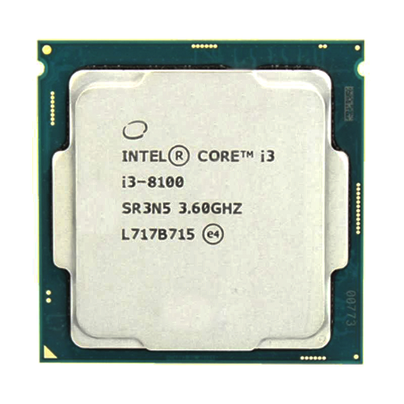 Intel Core i3-8100 i3 8100 3,6 GHz Quad-Core Quad-Thread CPU procesador 6M 65W LGA 1151 Procesador Intel Core™ i3-8100 3,6 Ghz 6 MB LGA 1151 BOX
