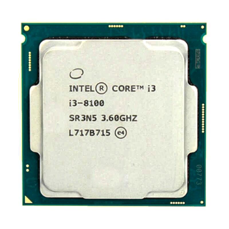 Intel Core i3-8100 i3 8100 3.6 GHz czterordzeniowy czterordzeniowy procesor cpu 6M 65W LGA 1151