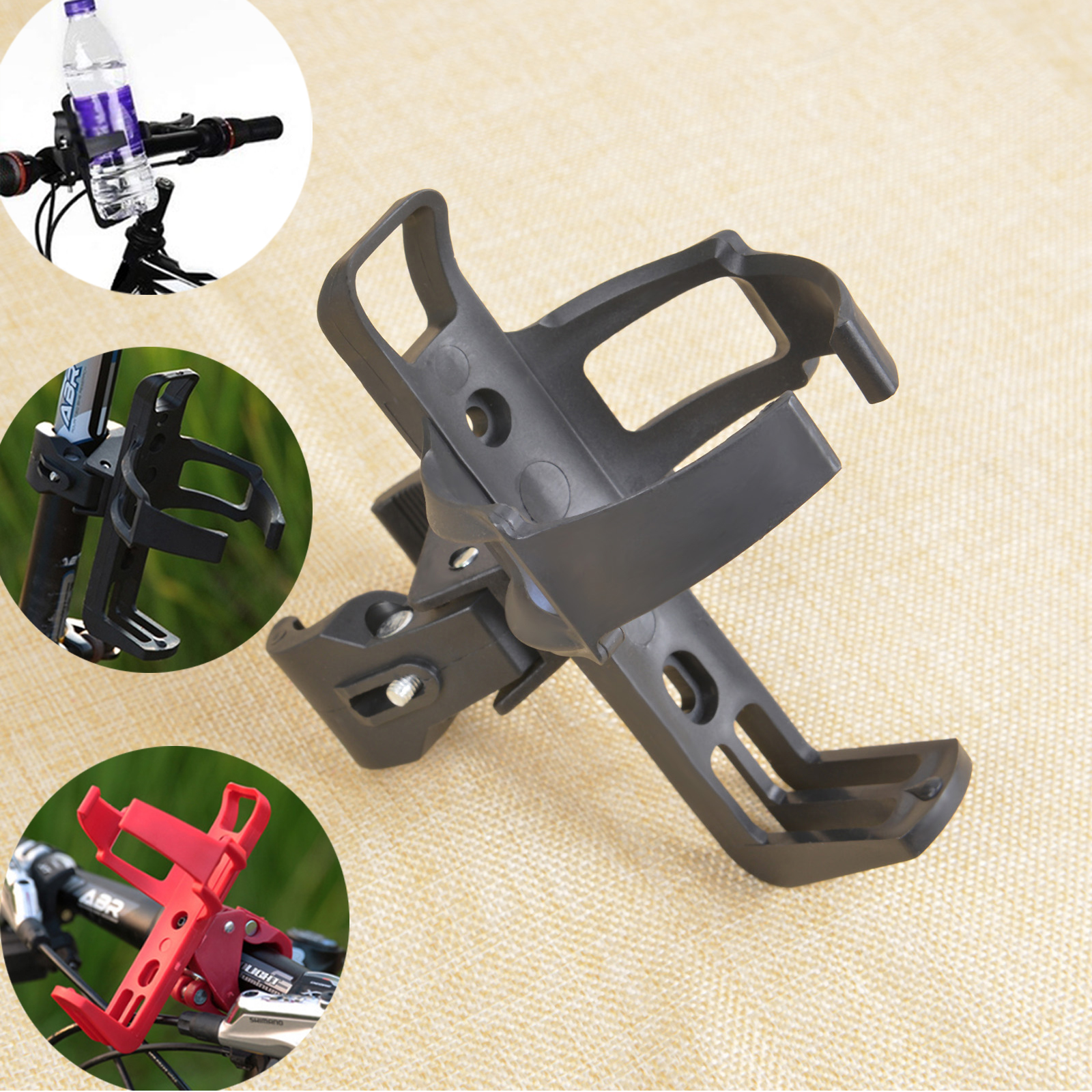 Bicycle Beverage Water Bottle Holder Bike Cup Holder 360 Degree Rack Cage For MTB Bike Bicycle Stroller Motorcycle Cycling Parts