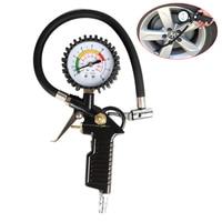 0 220 psi Reifendruck Tester Auto Auto Fahrrad Reifen Luft Manometer Reifen Inflator Pneumatische Werkzeug Gauge Kompressor druck Gaug-in Manometer aus Werkzeug bei