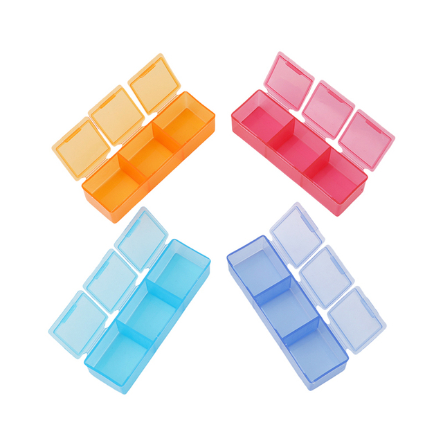 Pill Box 7 Days Tablet Mini Portable 3 Row 21 Squares Weekly Holder Medicine Storage Organizer Container Case fast shipping