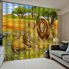 Animal forest curtains 3d Curtains Blackout for Living Room Bedroom Fabric blackout