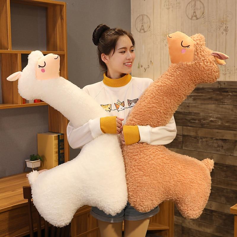 Милый Альпака плюшевые игрушки японской Альпака подушка для сна Мягкие овец ламы животных кукла подушка кровать для дома Декор подарок